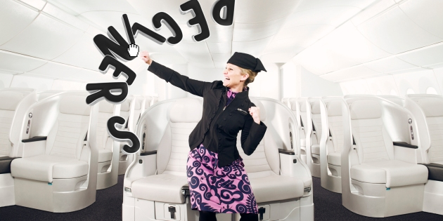 Flight attendants (and the new Premium Economy seats) defend your personal space.